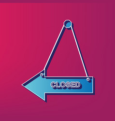 Closed sign   blue 3d printed vector