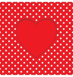 Card heart shape polka-dot background vector