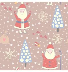 Santa claus seamless pattern vector