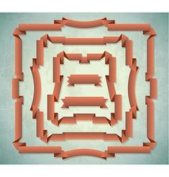 Set of vintage ribbon frames vector image