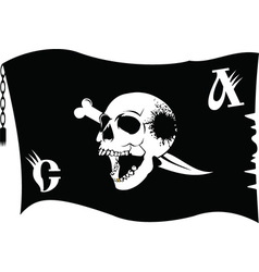 Pirate flag cartoon vector