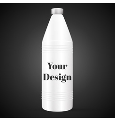 Bottle with cleaner isolated on black background vector