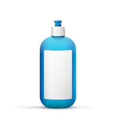 Blank dish washing liquid package vector