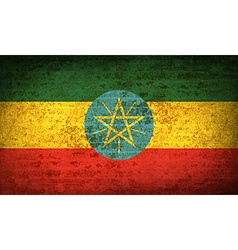 Flags ethiopia with dirty paper texture vector