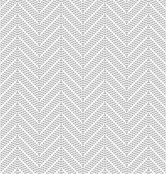 Slim gray dotted chevron vector image