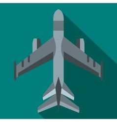 Military fighter jet icon flat style vector