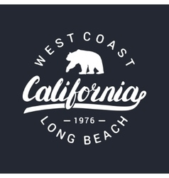 California handwritten lettering tee apparel vector