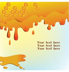 Flowing honey background vector
