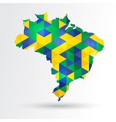 Abstract brazil map vector