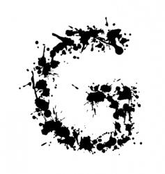 alphabet ink g vector image vector image