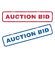 Auction bid rubber stamps vector