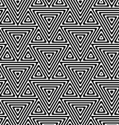 Black and white big and small triangles vector