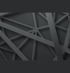 black background with black lines in the air at vector image