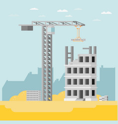 Building a house flat vector