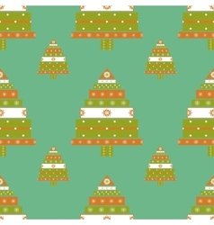 Christmas tree gifts seamless pattern vector