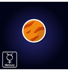 Cons with mercury and astrology symbol of planet vector