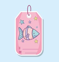 Cute sea animals printable sheet vector