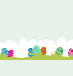 easter egg unique on hill landscape vector image vector image