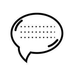 Figure chat bubble communication message vector