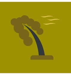 Flat icon on stylish background strong wind tree vector