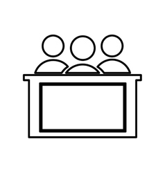 Honorable jury isolated icon design vector