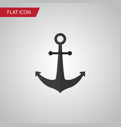 Isolated anchor flat icon ship hook vector