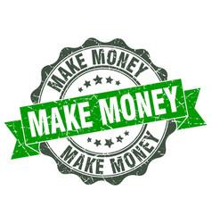 Make money stamp sign seal vector