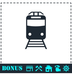 Metro icon flat vector