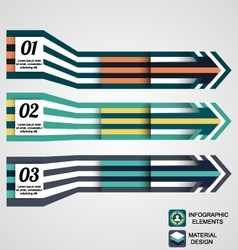 Modern infographic elements business arrow vector