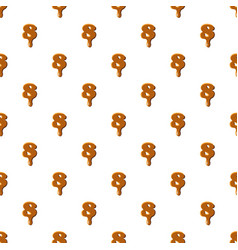 Number 8 from caramel pattern vector