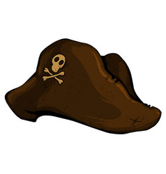 Old pirate hat vector