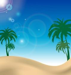 palm beach landscape with blue sky vector image