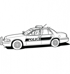 police cruiser vector image vector image