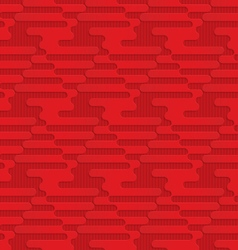 Red triangular waves on checkered background vector image