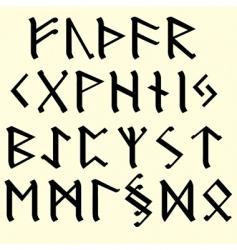 Runes occult emblem vector