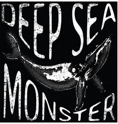 sea monster tee graphic design vector image