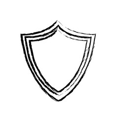 shield protection system technology sketch vector image