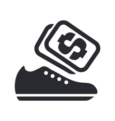 shoes sale single vector image