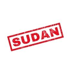 Sudan rubber stamp vector