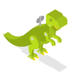 Toy dinosaur Tyrannosaurus Rex isometrics vector image vector image