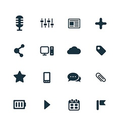 webdesign icons set vector image