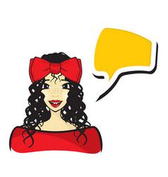 woman talking vector image vector image