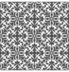 Damask floral seamless pattern with gray foliage vector