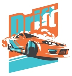 Burnout car japanese drift sport jdm vector