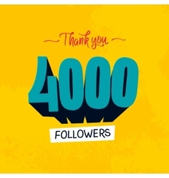 Thanks design template for network friends vector