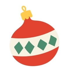 Christmas decoration ball toy vector