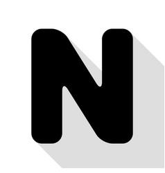 letter n sign design template element black icon vector image