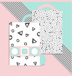 Geometric card vector
