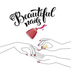 Beautiful manicure vector