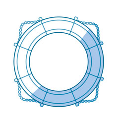Nautical life ring vector
